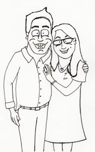 Caricature Line Drawing