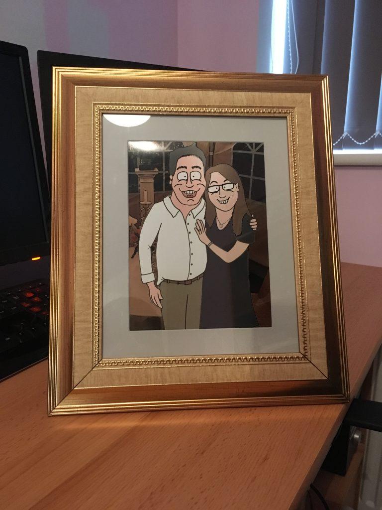 Framed Caricature