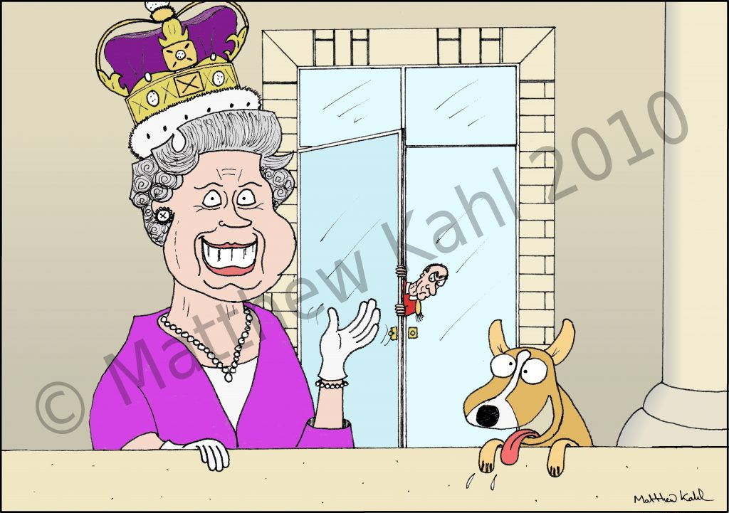 Caricature of The Queen