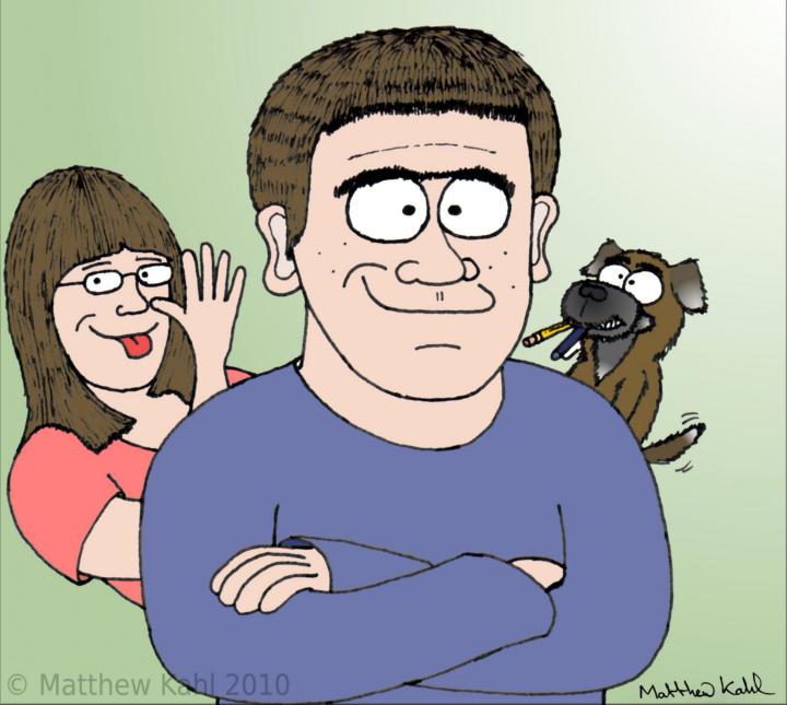 Matthew Kahl Self Caricature 2010